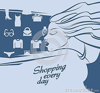 Het winkelen.