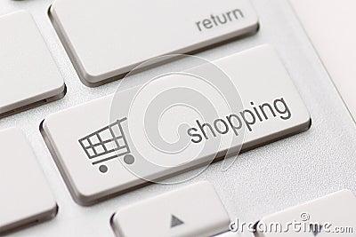 Het winkelen gaat sleutel in