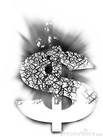 Het wit tweede van de dollar