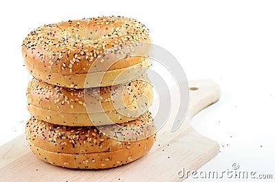 Het zaad en het sesamzaadongezuurde broodjes van de papaver