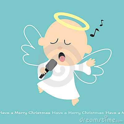 Het zingen Engel