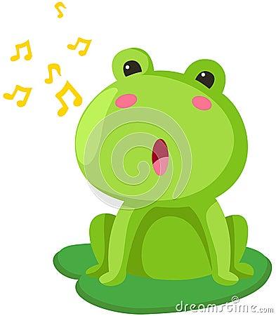 Het zingen van de kikker