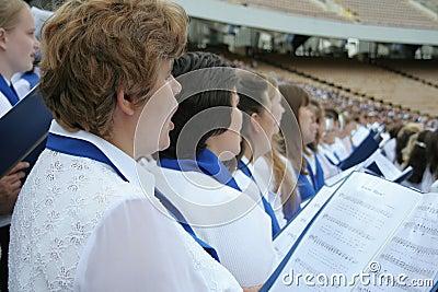 Het zingen van het koor Redactionele Stock Afbeelding