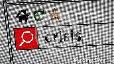 Het zoeken naar crisis stock video