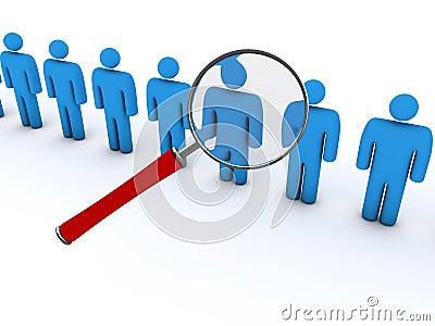 Het zoeken naar mensen