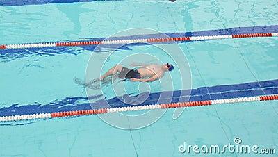 Het zwemmen de concurrentie
