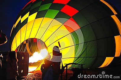 Hete lucht baloon brander