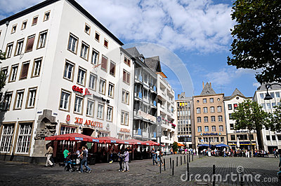 Heumarkt Cologne (Köln) Editorial Stock Image