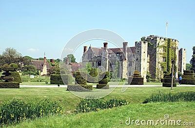 Hever castle and garden in Spring season, England Stock Photo