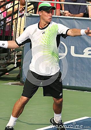 Hewitt: Professional tennis player forehand Editorial Photo