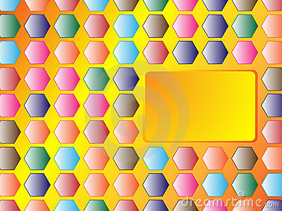 Hexagon background with banner