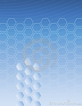 Hexagon Blue Background