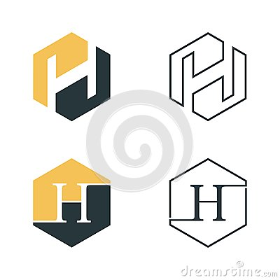 Free Hexagon Letter H Graphic Vector For Web Icon Or Smartphone App Royalty Free Stock Photos - 121373148