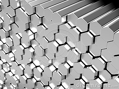 Hexagon metal bars