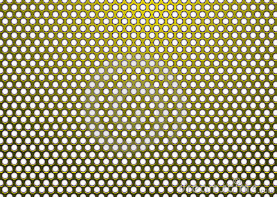 Hexagon metal gold white