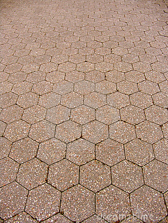 Hexagon tiled floor