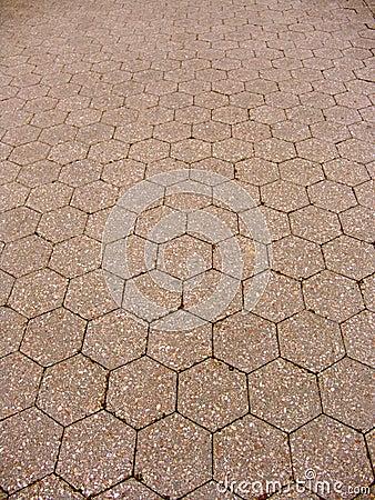 Hexagon tiled floor