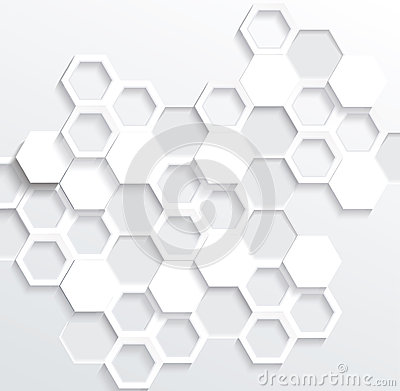Free Hexagonal Abstract 3d Background Stock Photography - 59223582