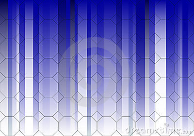 Hexagonal Blue Fading Business Graphic