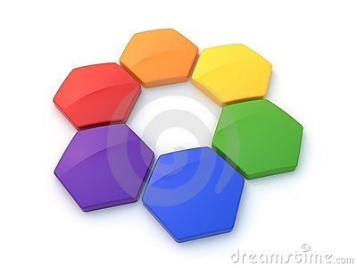 Hexagonal color wheel