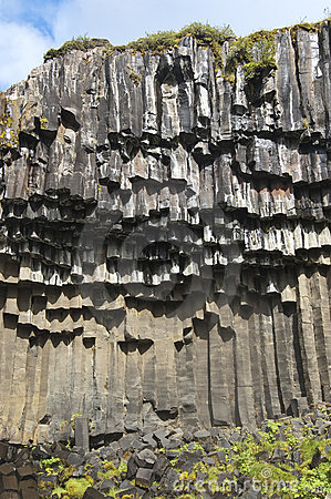 Hexagonal columns of basalt.