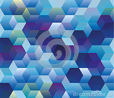 Hexagonal pattern, Abstract background