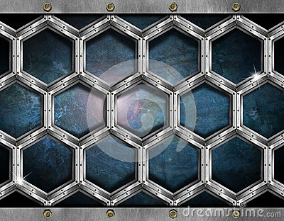 Hexagons Grunge Background