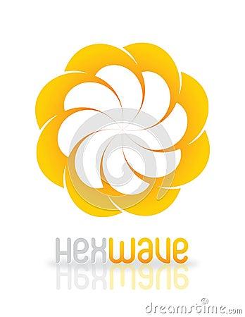 HexWave logo design