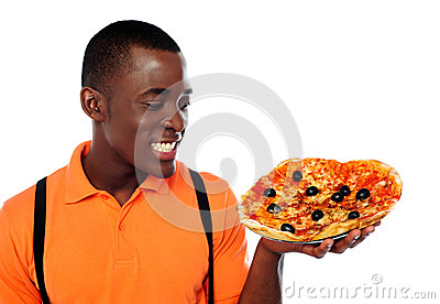 Hey lets enjoy some yummy pizza