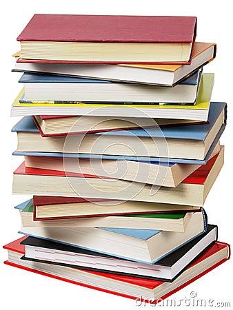 Hög av böcker