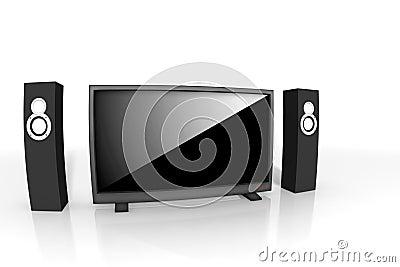 Hög home televisionteater för definition