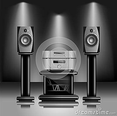 Free Hi-Fi Audio Sound System Royalty Free Stock Photography - 24973857