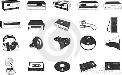 Hi-fi equipment illustrations