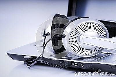 Hi-Fi Headphone and  Laptop