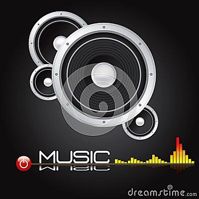 HI-FI Stereo Speaker -EPS Vector-