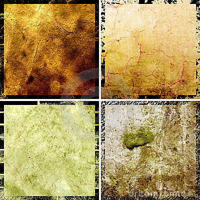 Hi-res abstract grunge backgrounds set