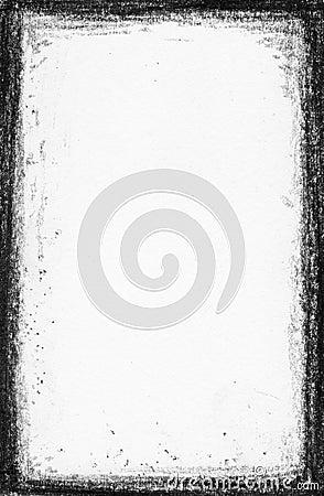 Hi res. - Handpaint Grunge black frame