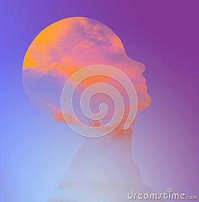 Hi-Res Head Abstract