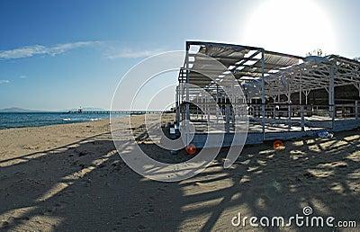 Hi-res panorama , beach of Burgas ,Bulgaria