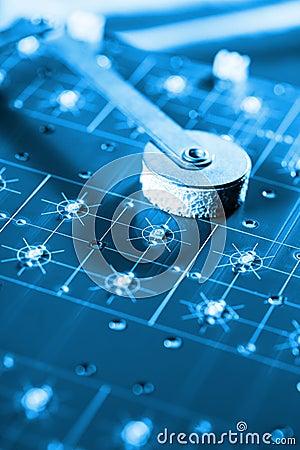 Hi Tech Assembling Line - Blue