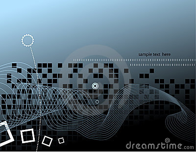 Hi-tech background design