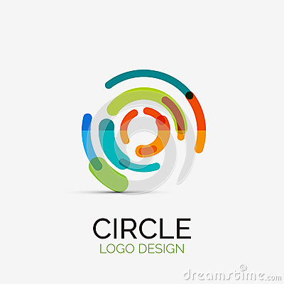 Free Hi-tech Circle Company Logo, Business Concept Royalty Free Stock Photos - 43800488