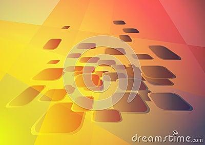 Hi-tech gold background
