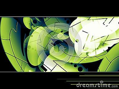 Hi-tech green bacgkround