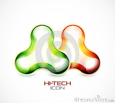 Hi-tech liquid abstract icon
