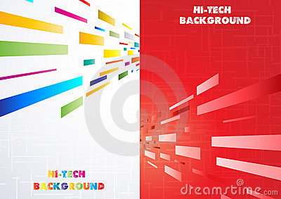 Hi-tech Multi-coloured background