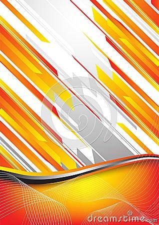 Hi-tech orange background