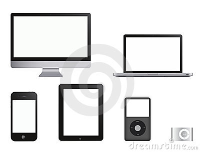 HI TECH Products collection Editorial Stock Image