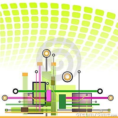 Hi-tech Technology Background