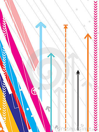 Hi-tech vector background series with arrow detail